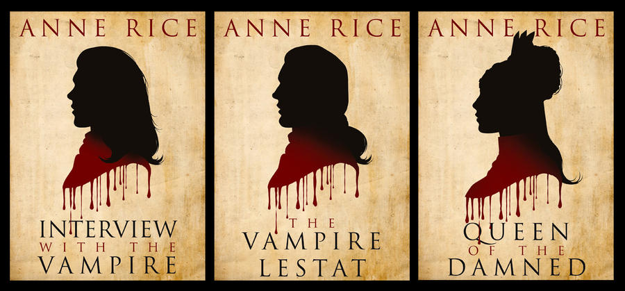 Book Cover Design Silhouette : The vampire chronicles book silhouettes by simonpovey on