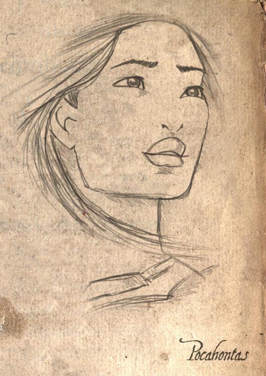 Pocahontas Sketch by LathronAniron