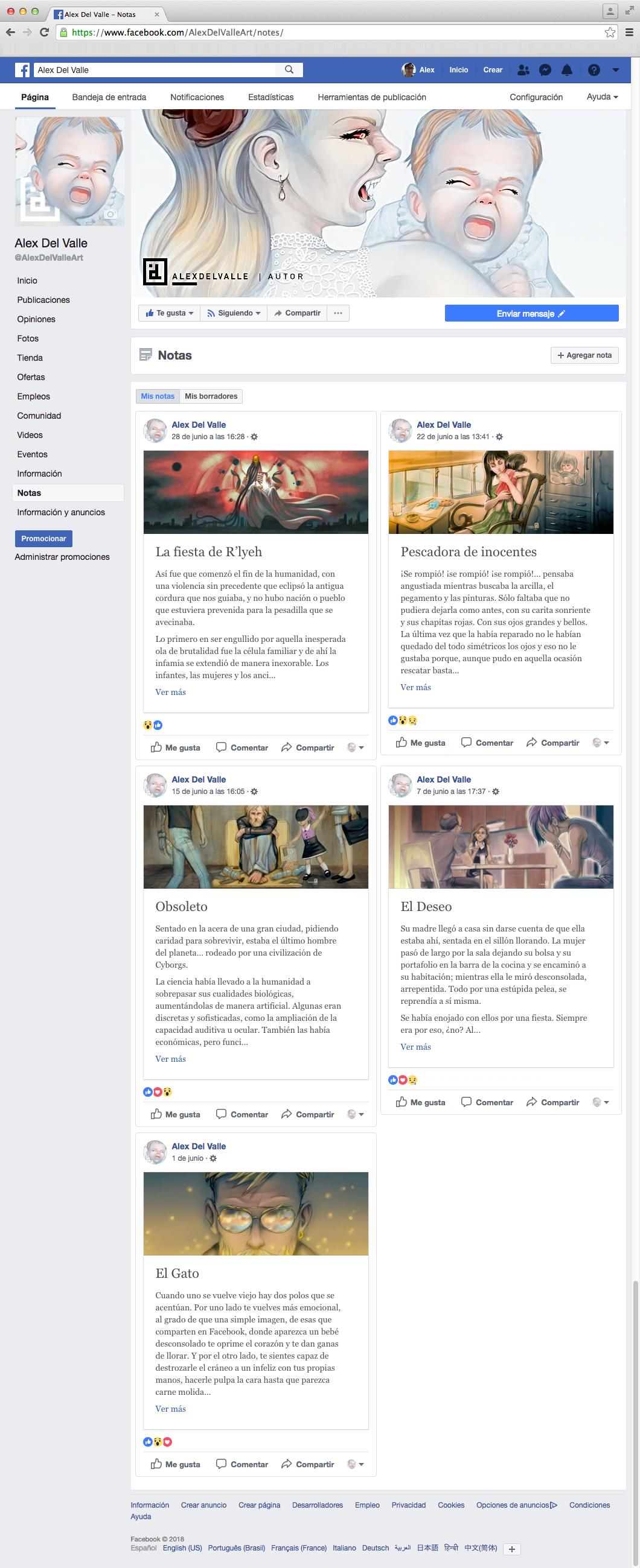 Cuentos cortos en mi pagina de Facebook by AL3X-MTY