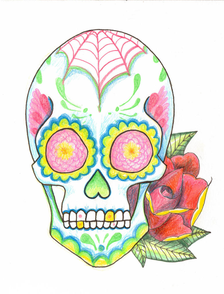 Mexican skull doodles by