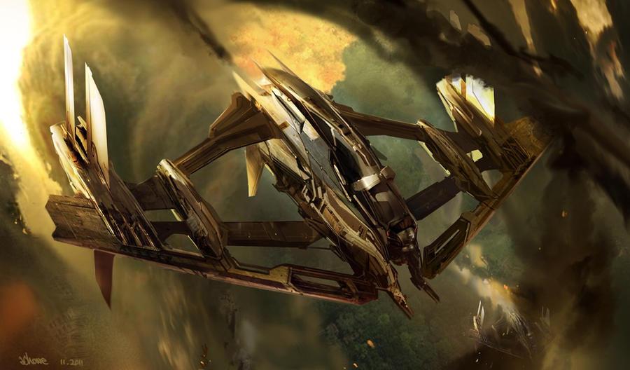 attack ship by jonone