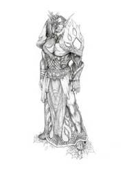 Night Elf Druid by V-Bonecrasher