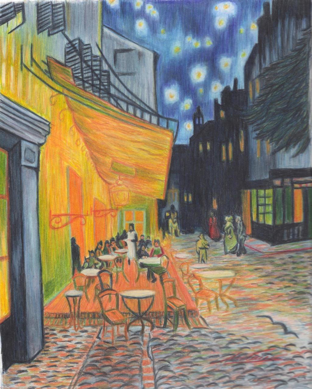 Van Gogh Cafe Terrace at Night Wallpaper Van Gogh 39 s Cafe Terrace at