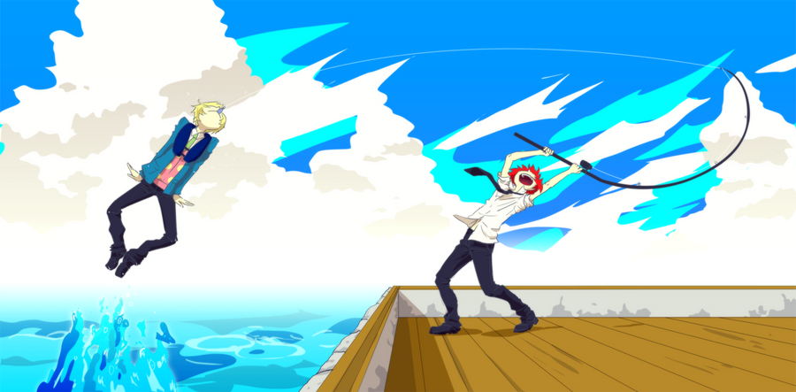 Výsledek obrázku pro anime fishing