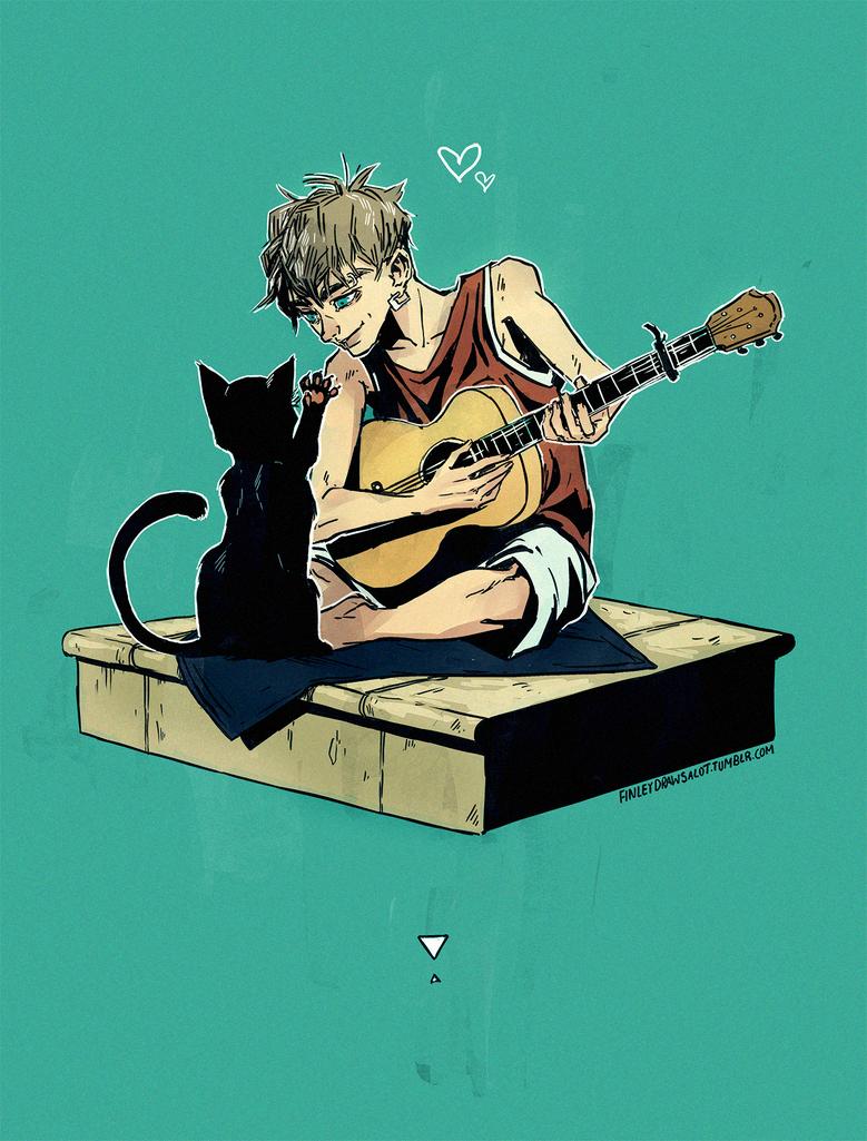 Cat by tinhan