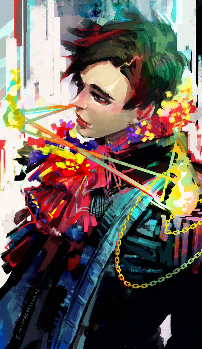 colorful painting of a uniform by tinhan