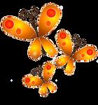 Gold Butterflies PNG