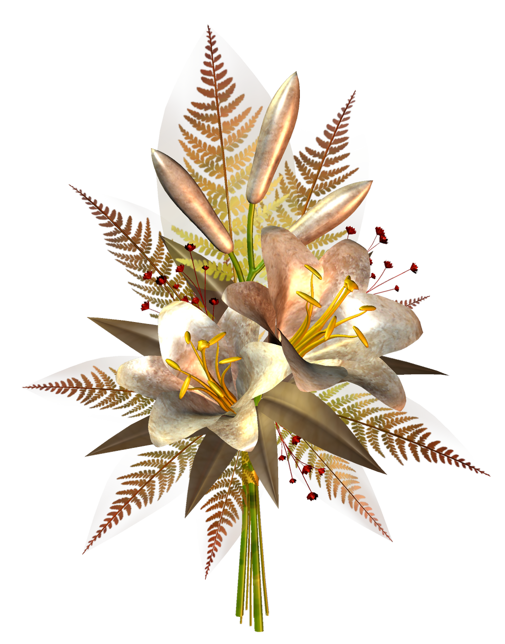 Cream Flower Decoration PNG by HanaBell1 on DeviantArt