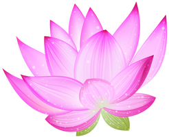 Pink Lotus PNG by HanaBell1