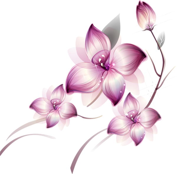 [Res] Purple Flowers PNG by HanaBell1 on DeviantArt