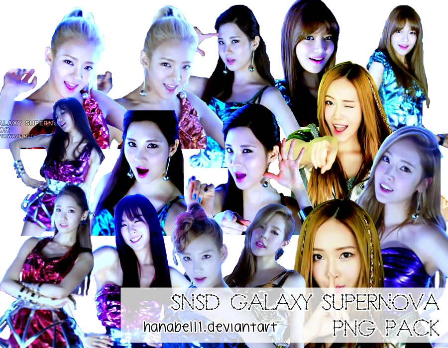 SNSD Galaxy Supernova PNG Pack by HanaBell1
