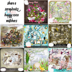 [Happy 1000 Watchers] Share 8 Scrapbooks
