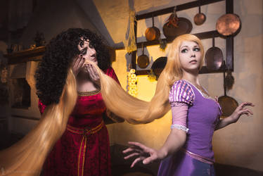 Disney Tangled - Rapunzel and Mother Gothel by KiaraBerry