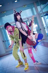 Danganronpa 2 - Ibuki and Souda by KiaraBerry