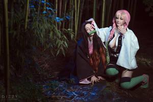 Kimetsu no Yaiba - Mitsuri and Nezuko