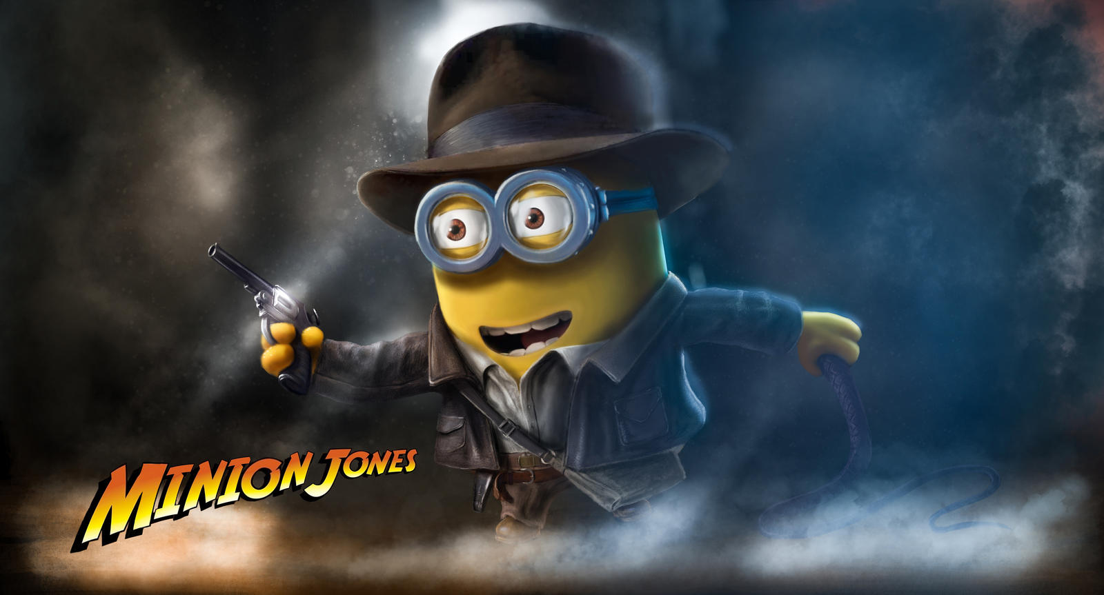 Minion Indiana Jones Art by AlexanderLevett