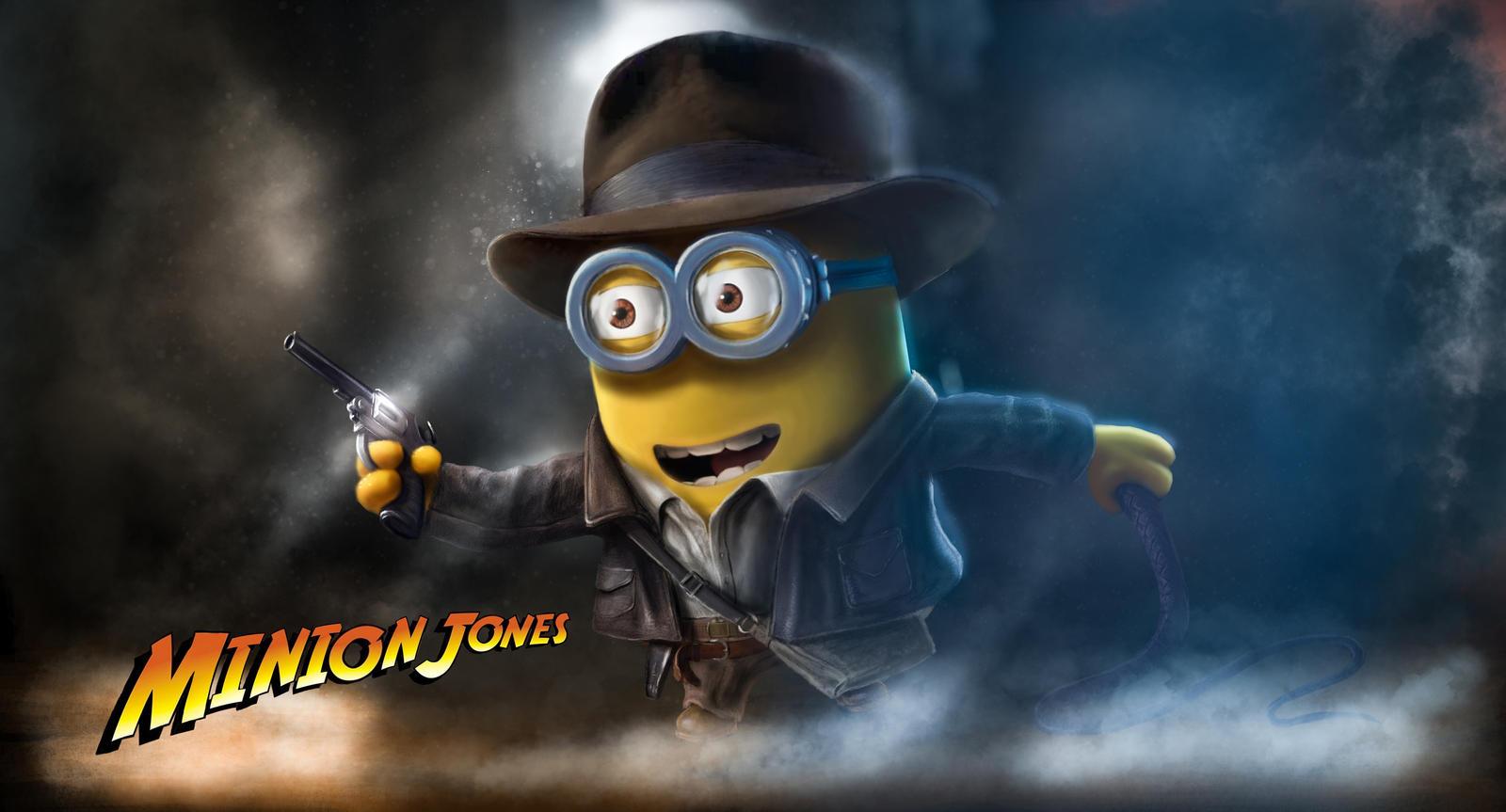Minion Indiana Jones Art by AlexanderLevett