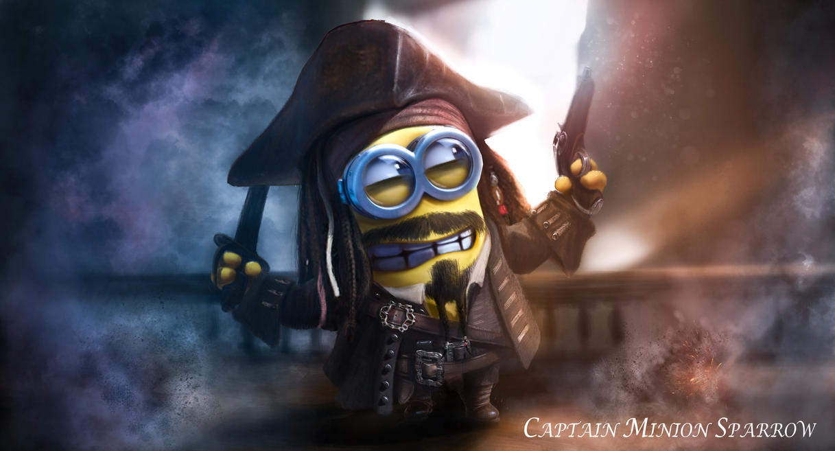 Minion Captain Jack Sparrow Art (Alexander Levett) by AlexanderLevett