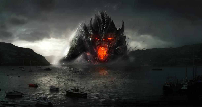 River Dragon Speedpaint by AlexanderLevett