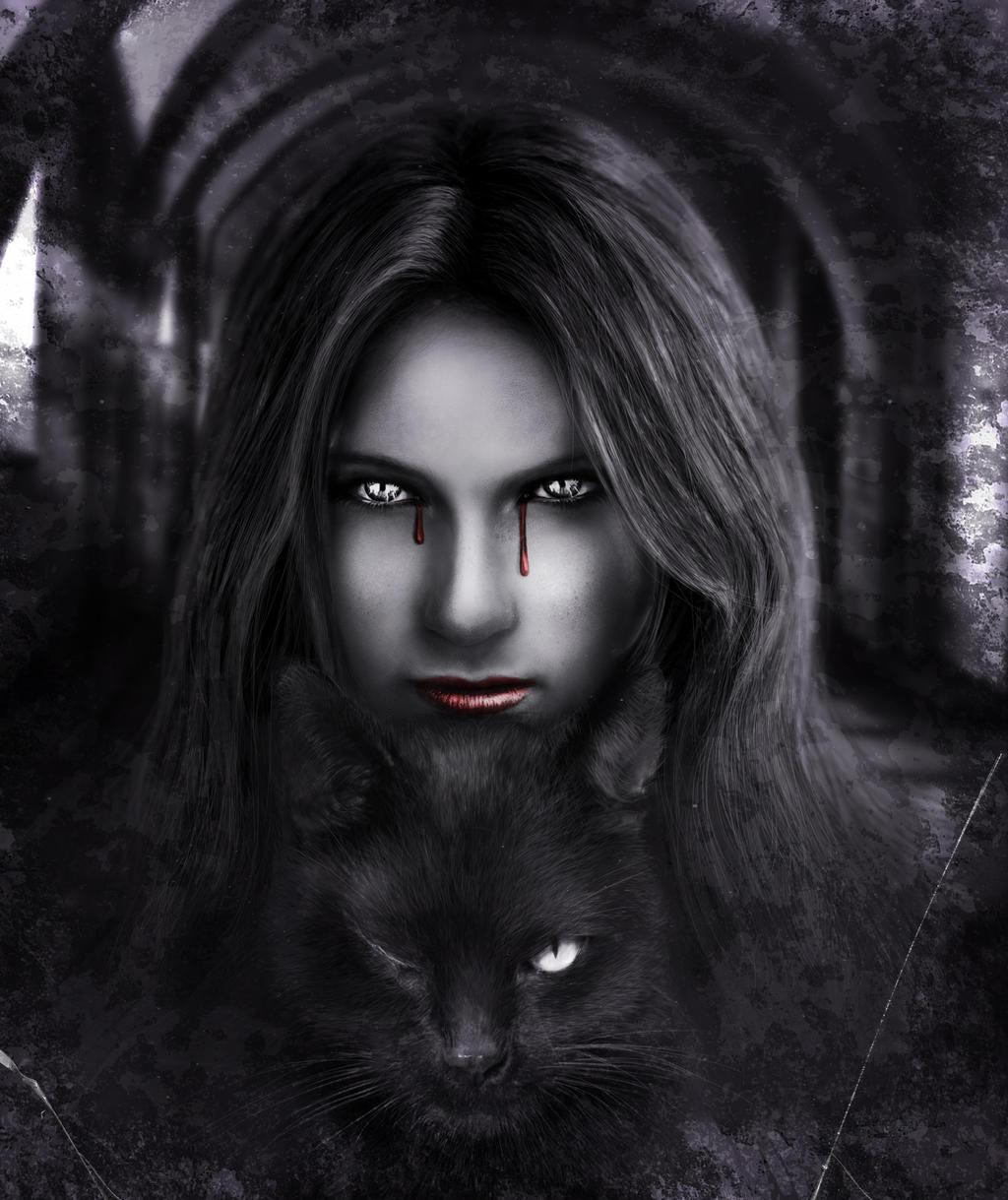 Edgar Allan Poe - The Black Cat by AlexanderLevett