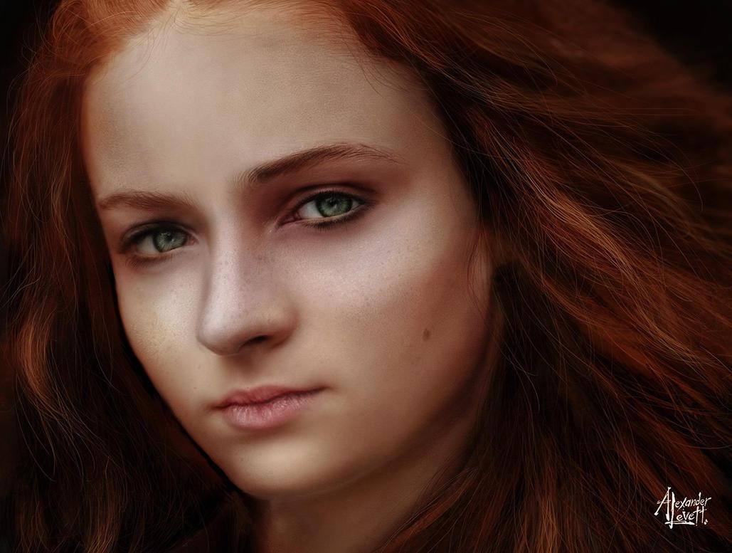 Sansa Stark Colour Study by AlexanderLevett
