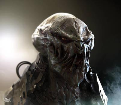 Alien Bounty Hunter Concept by AlexanderLevett