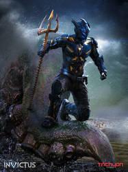 Poseidon Character Card by AlexanderLevett