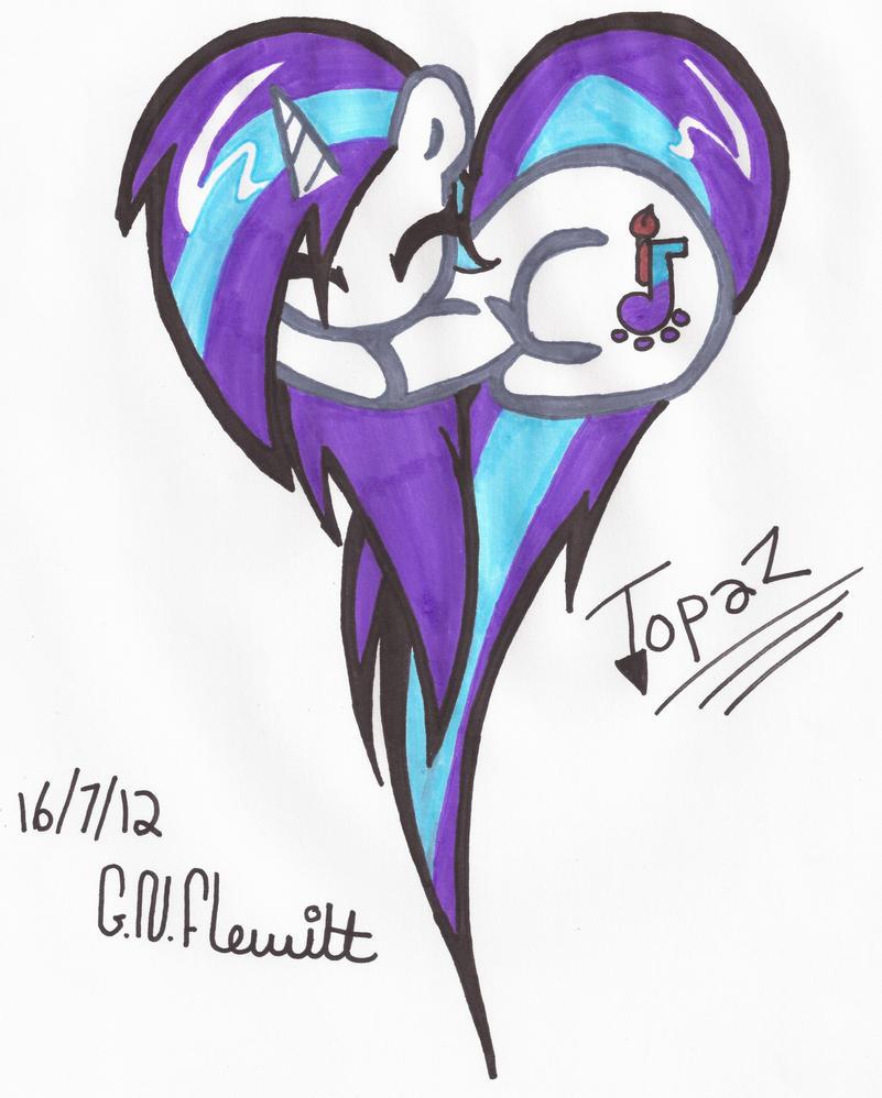 Topaz heart! :D by Dolpgirl