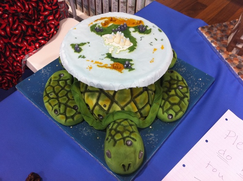 Discworld Cake Great A'Tuin 2 by Kelzky