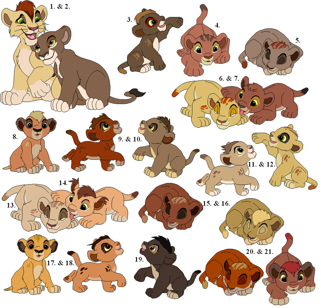 More Cub Adoptables (GONE) by Claire-Cooper