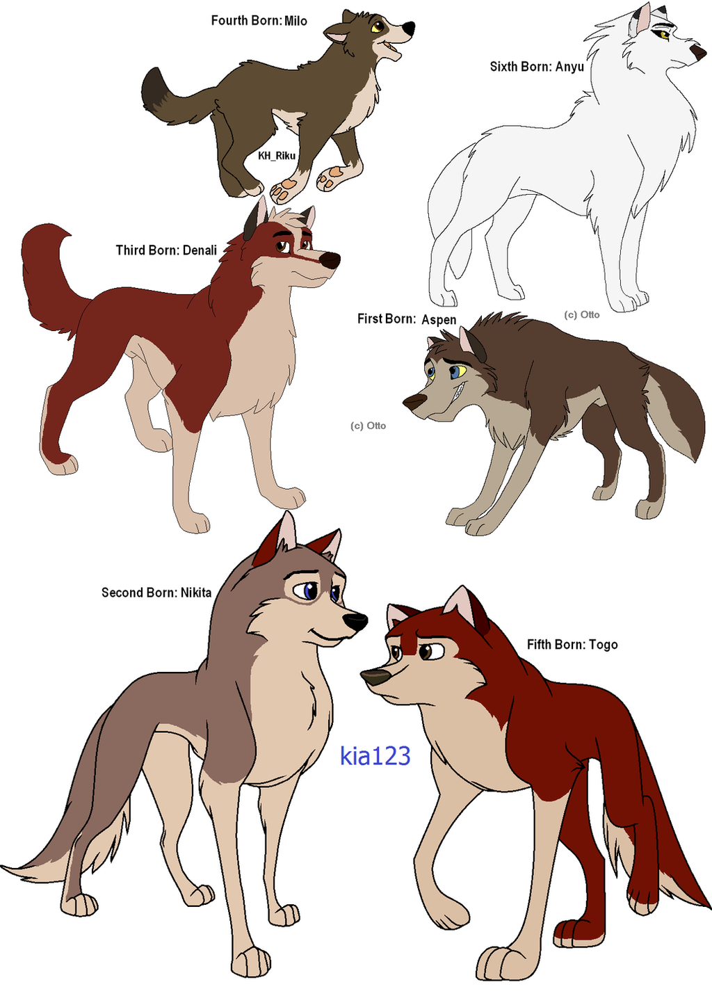 Balto and Jenna's Second Litter (GONE) by Claire-Cooper on ...