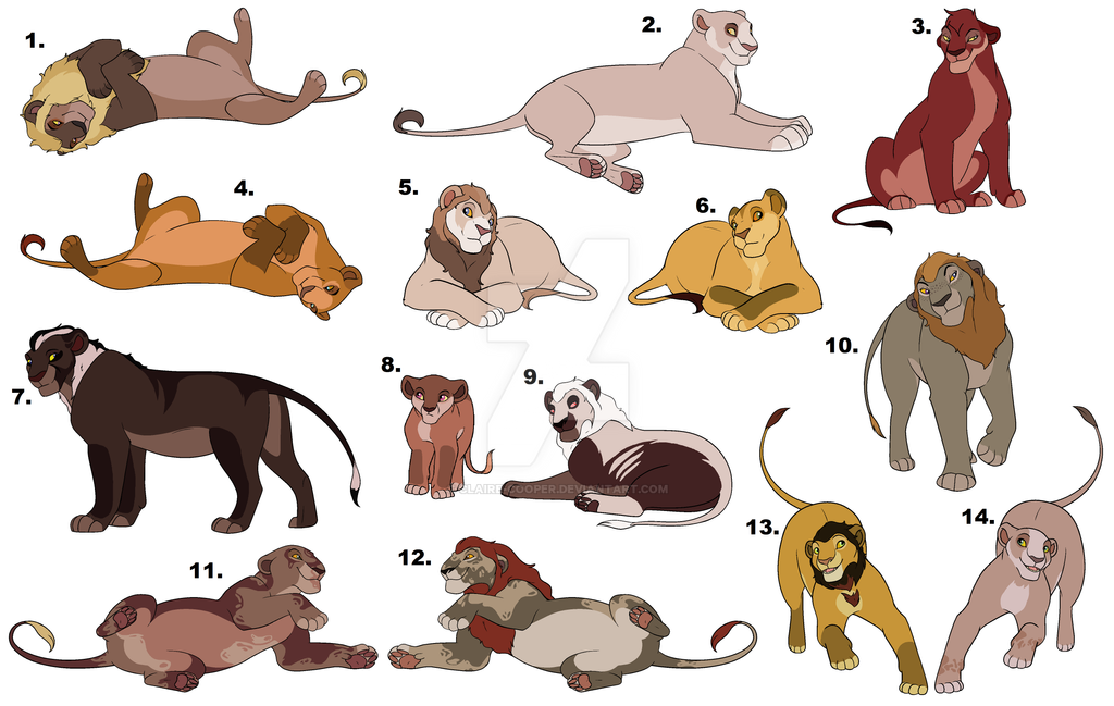 Lion Pile Adopts (Christmas Price Reduction) by Claire-Cooper