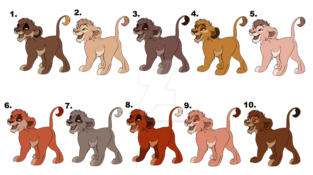 Outlander Cub Adopts (1 left) by Claire-Cooper