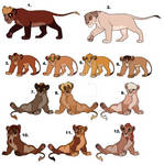 More Lion Adopts. (Open/Lowered 75 points)