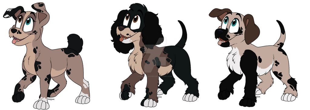 Two-Tone x Scamp pup Adopts by Claire-Cooper