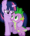 Twilight loves Spike