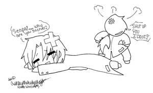 Senpai is so cruel... LineArt by Ashleythehedgehog101