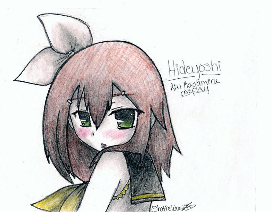 Hideyoshi: Rin Kagamine Cosplay by Ashleythehedgehog101