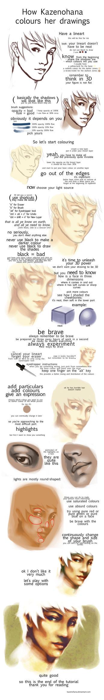 how to colour by KazeNoHana