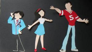 Glee Paper Dolls Kurt, Rachel and Finn by adwooddesigns