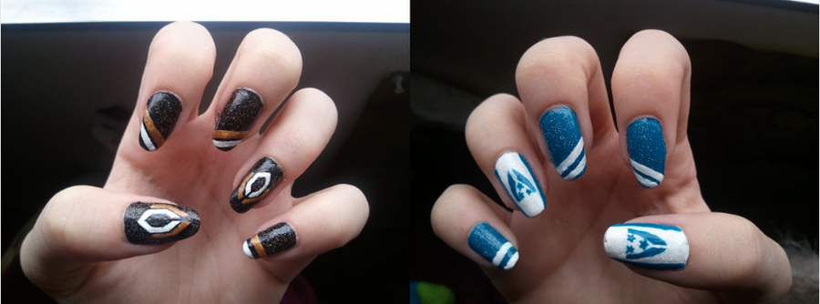 Mass Effect: Cerberus/Alliance Nails. by KashaKiller