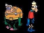 Mermaid Man and Barnacle Boy (Tribute Drawing)