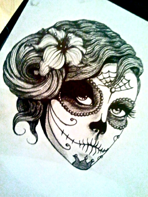 mexican day of the dead tattoos for girls froblog hot girls wallpaper. Black Bedroom Furniture Sets. Home Design Ideas