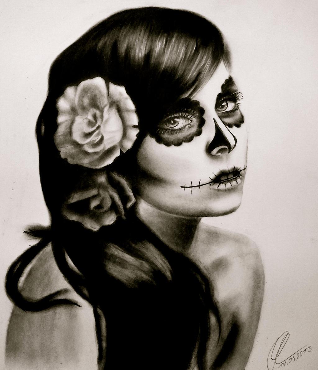 Beautiful Sugar Skulls Drawings Sugar skull by Silk86 ...