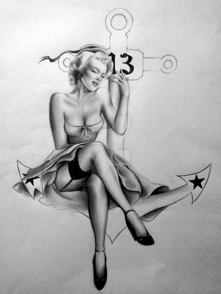 Pin up Tattoo by Silk86 on DeviantArt