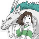 Chihiro and Haku by DanishKaushik
