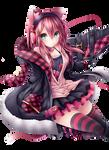 Pink Neko Girl Render