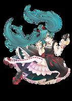 Hatsune Miku Render by lraskie