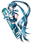 Hatsune Miku Winter Render
