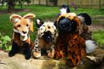 Suma plush Maned Wolf, Hyena and African wild dog